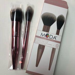 Moda Powder + Soft Glow Makeup Brushes Set